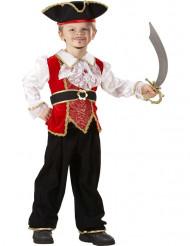 Dräkt för liten pirat - Maskeraddräkt för barn deluxe version