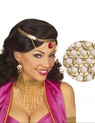 Förtjusande halsband med gyllene pärlor