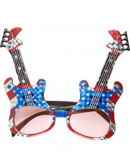 Glasögon amerikansk rockgitarr vuxen