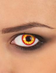 Kontaktlinser fantasi gula och röda vuxen