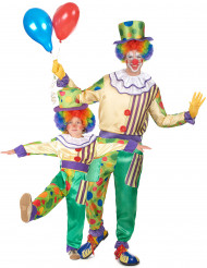 Clown pardräkt far & son