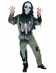 Skelettzombie - utklädnad barn