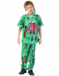Zombie doktorsdräkt barn