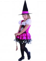Söt rosa häxa - Maskeraddräkt för barn