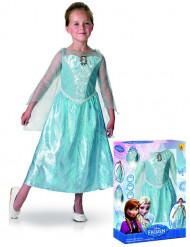 Lyxig Elsa™dräkt med ljus och ljud för barn