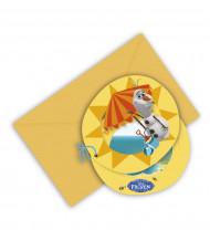 6 Inbjudingskort från Olof™ i solen