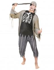 Piratzombie Man Maskeraddräkt