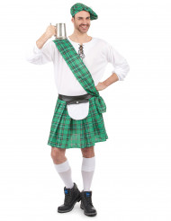 Grön kostym med skotsk influens herrar