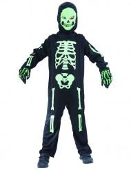 Grön skelettdräkt barn