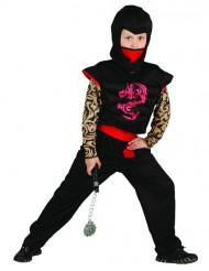 Röd och svart Ninjadräkt barn
