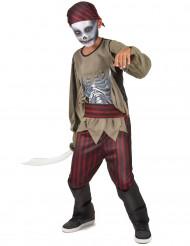 Zombiepiratdräkt för barn till Halloween