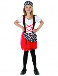 Piratklänning med röd kjol - Maskeradkläder för barn