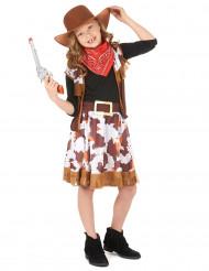 Cowgirl med fräck kjol - Maskeradkläder för barn