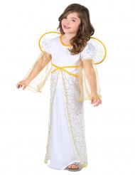 Änglaklänning med gyllene detaljer för barn