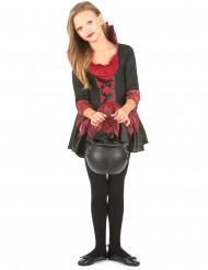 Vampyrklänning med snörning och fin kjol - Halloweenkostym för barn