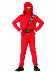 Röd Ninja - Maskeraddräkt för barn
