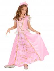 Söt rosa prinsessdräkt för barn till maskeraden