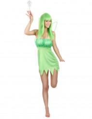 Grön fé-dräkt vuxen