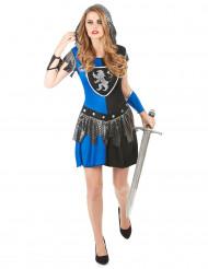 Kvinnlig riddardräkt blå