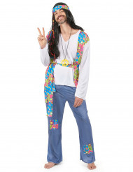 Blå hippie - utklädnad vuxen