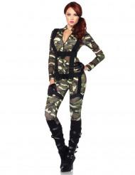 Kamogirl - militärdräkt för vuxna