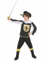 Svarta musketören - Maskeraddräkt för barn