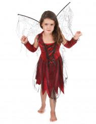 Ond fekostym i rött och svart för barn till Halloween