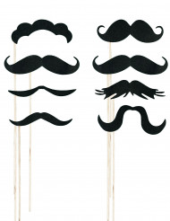 Phothoboot kit med 8 mustascher