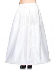 Underkjol vit lång som är vid nertill