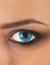 Kontaktlinser fantasi blå 3 toner vuxen