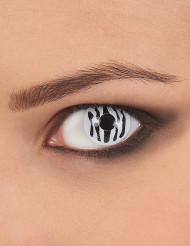 Zebrarandiga linser för vuxna - Halloweensminkning
