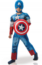 Lyxig Captain America™ dräkt från  Avengers för barn