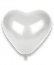 100 vita hjärtformade  Ballonger  32cm