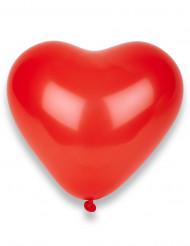 100 röda hjärtformade 32cm