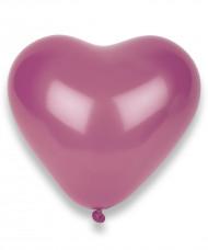 50 fuchsia hjärtformade  Ballonger  32cm