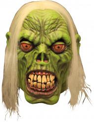 Grön zombie - Halloweenmask för vuxna