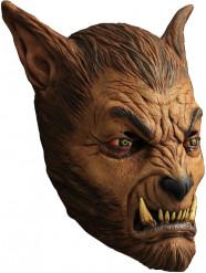 Brun varulv - Mask för vuxna