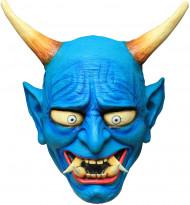Blå Oni-Demon - Mask för vuxna