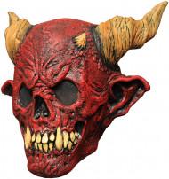 Mask dödsskelett rött