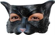 Halvtäckande mask svart katt