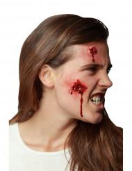 Färskt och blodigt sår - Läskig Halloweensminkning