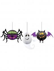 3 pappersdekorationer till Halloween