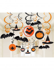 30 dekorativa spiraler i Halloweentema