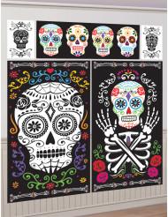5 väggdekorationer till Halloween i Dia de los Muertos-stil