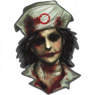 Zombiesjuksköterska - Väggdekoration till Halloween