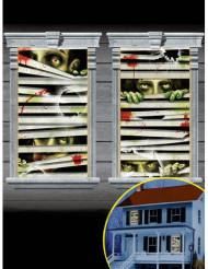 2 zombie-fönsterdekorationer
