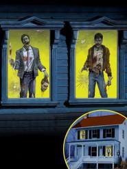 2 Zombie fönsterdekorationer till Halloween