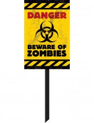 Varning! Zombies! - Halloweendekoration