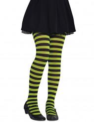 Strumpbyxor grön- och svartrandiga barn