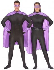 Superhjältekit i lila för vuxna
